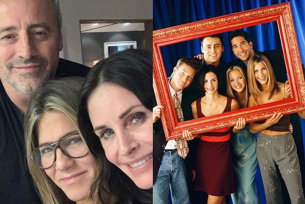 """""""Przyjaciele"""" po latach. Courteney Cox, Jennifer Aniston i Matt LeBlanc pochwalili się WSPÓLNYM selfie! (FOTO)"""