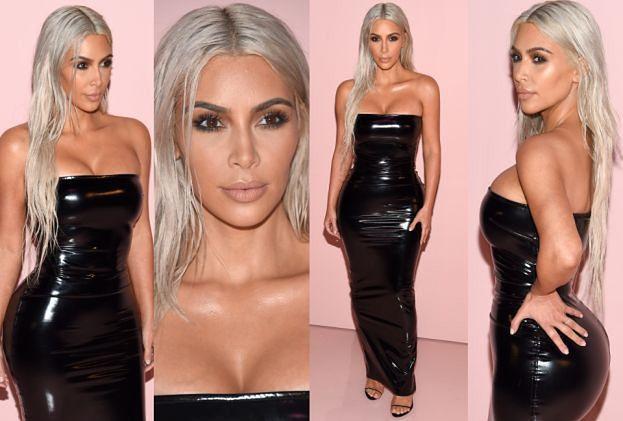 Kim w lateksie i nowej fryzurze lansuje się na tygodniu mody (ZDJĘCIA)