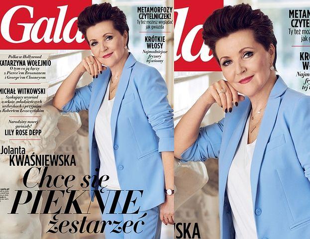 """Jolanta Kwaśniewska """"pięknie się starzeje"""" na okładce """"Gali""""..."""