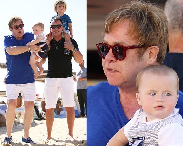 Elton John Z MĘŻEM I SYNAMI na wakacjach! (ZDJĘCIA)