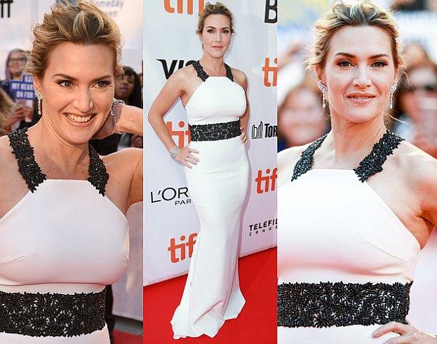 Piękna Kate Winslet w bieli na festiwalu w Toronto (ZDJĘCIA)