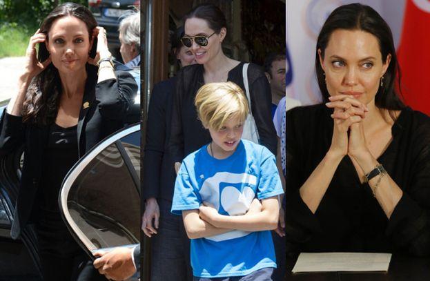 Angelina Jolie i Shiloh w tureckim obozie dla uchodźców (ZDJĘCIA)