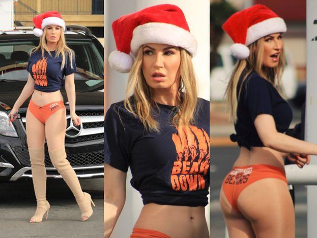 """Brazylijski """"króliczek Playboya"""" tankuje auto w stroju rozpalonej pani Mikołajowej"""