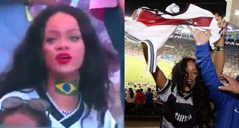 Rihanna bawi się na trybunach mundialu! ZOBACZCIE