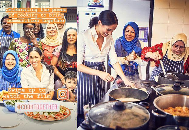 """Meghan Markle wydała książkę kucharską wspólnie z ofiarami pożaru Grenfell Tower. """"Nie mogę uwierzyć, że zmusiłam ją do płukania ryżu!"""""""
