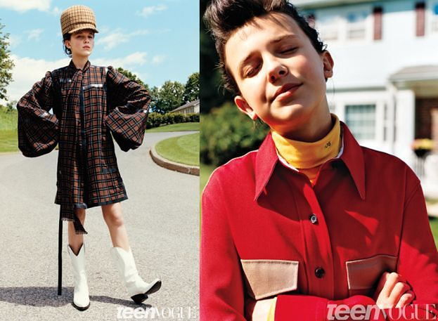"""13-letnia gwiazda """"Stranger Things"""" pozuje dla """"Teen Vogue"""""""