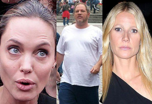 """Jolie i Paltrow też były molestowane przez Weinsteina! """"Byłam dzieckiem, byłam przerażona. Myślałam, że jesteś moim wujkiem Harveyem"""""""