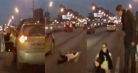 """Kobieta """"strzela focha"""" na drodze!"""