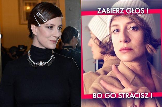 """Maja Ostaszewska nawołuje do głosowania w wyborach: """"Możecie nie być pasjonatami polityki, ale proszę nie ignorujcie ich"""""""
