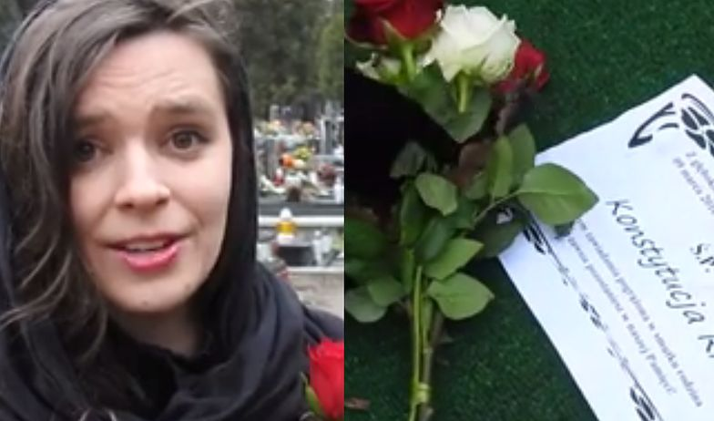 """Działaczka Nowoczesnej urządziła """"pogrzeb Konstytucji"""": """"Umarłaś przez głupotę małych ludzi! Miałaś dopiero 19 lat"""""""