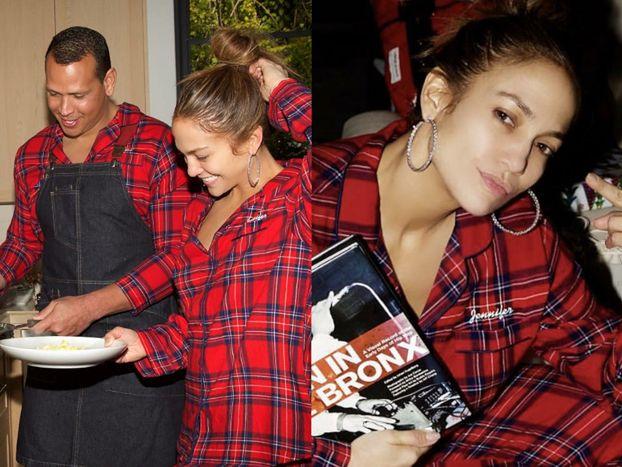 """""""Skromna"""" Jennifer Lopez świętuje rodzinne Boże Narodzenie w piżamie i bez makijażu (FOTO)"""