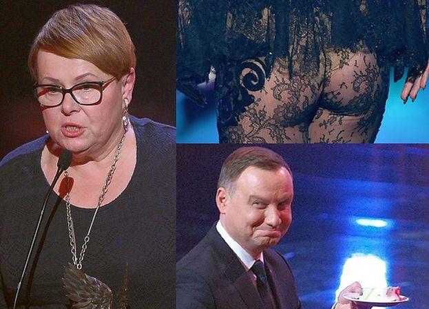 """Łepkowska broni pośladków Dody: """"Większą obrazą dla inteligencji prezydenta były skecze kabaretowe!"""""""