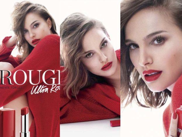 Rozczochrana Natalie Portman promuje nową szminkę od Diora
