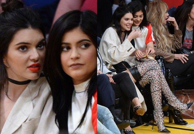 Siostry Jenner na meczu w Los Angeles