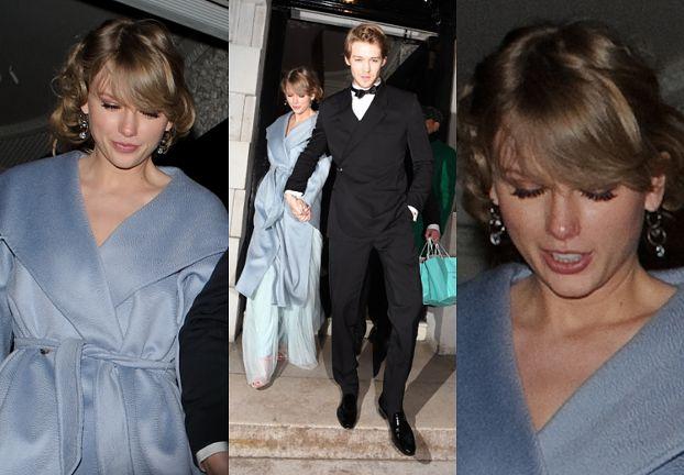 Rozanielona Taylor Swift idzie na imprezę z żądnym sławy ukochanym