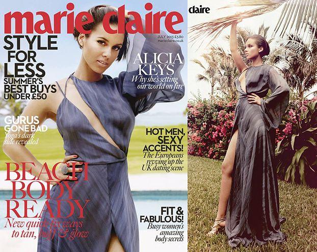 "Piękna Alicia Keys w ""Marie Claire""! (FOTO)"
