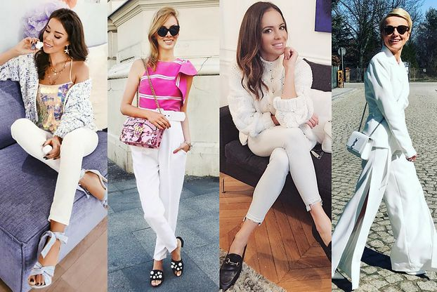 Z czym łączyć białe spodnie? 5 inspiracji Pudelek