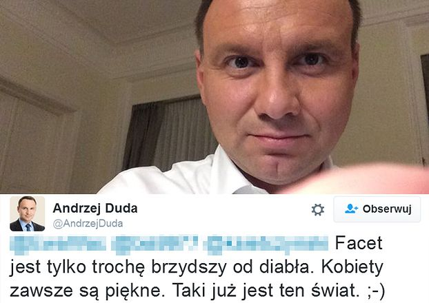 Andrzej Duda rozmawia nocą z fankami na Twitterze...