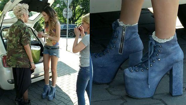 Marina w butach na koturnie