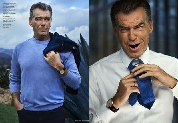 "Pierce Brosnan pozuje dla ""Esquire"""
