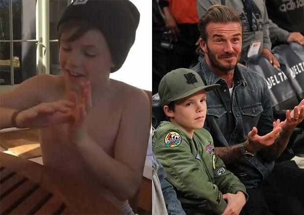 David Beckham chwali się talentem syna (WIDEO)