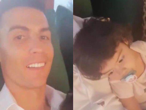 Oblegany przez gromadkę dzieci Cristiano Ronaldo chwali się na Instagramie rodzinną sielanką (FOTO)