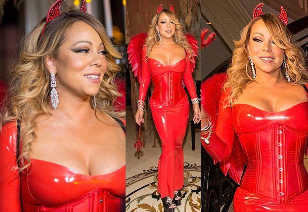 """Halloween w Hollywood: Mariah Carey jako """"seksowna diablica"""" (ZDJĘCIA)"""
