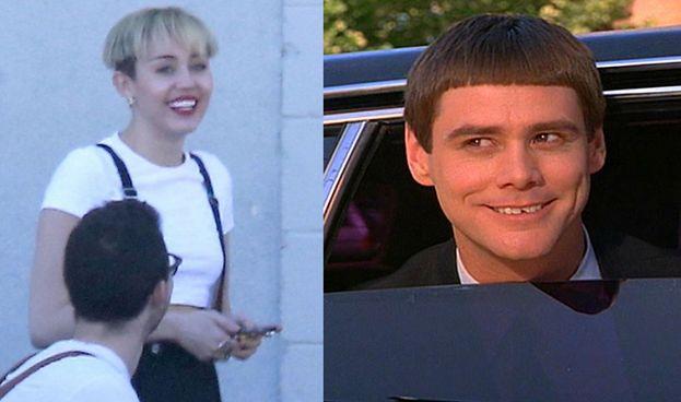 """Miley Cyrus jak Jim Carrey w """"Głupim i głupszym""""? (FOTO)"""