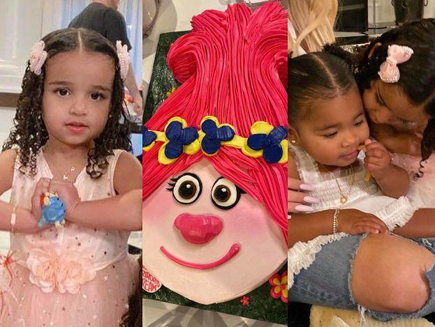 Bajkowe urodziny u Kardashianów. Córeczka Roba świętowała 3 latka z tortem w kształcie... trolla! (FOTO)