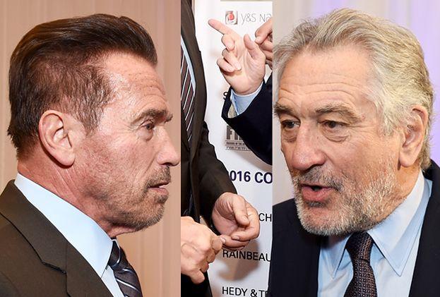 """De Niro NIE CHCIAŁ PODAĆ RĘKI Schwarzeneggerowi! """"Jeśli popierasz Trumpa, nie chcę mieć z tobą nic wspólnego!"""""""