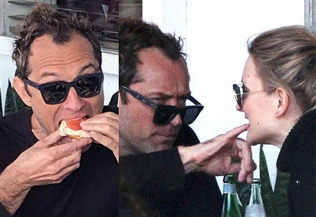 Jude Law na randce z dziewczyną... GRZEBIE JEJ W ZĘBACH (ZDJĘCIA)