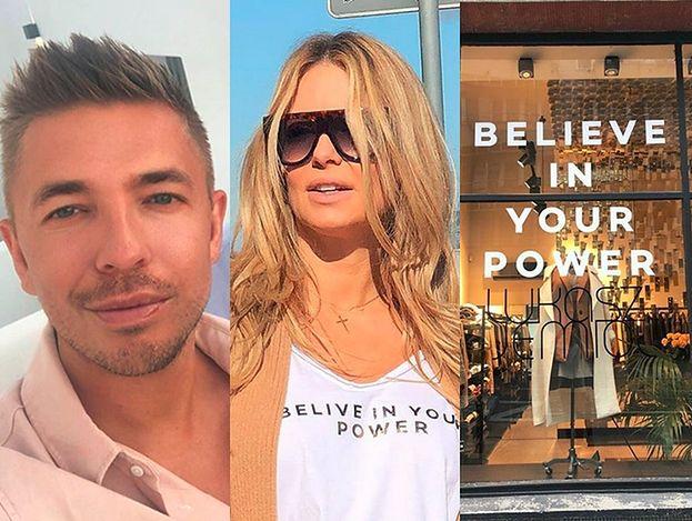 """Łukasz Jemioł wypuścił koszulki z błędem ortograficznym i rozdał je celebrytom: """"BELIVE IN YOUR POWER"""""""
