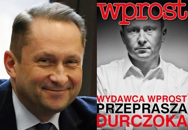 """""""Wprost"""" przeprasza Durczoka na okładce, ale dodaje, że """"nie za artykuły o molestowaniu""""!"""