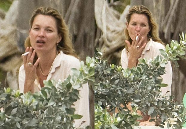 Kate Moss, mąż, córka i papierosy... (FOTO)