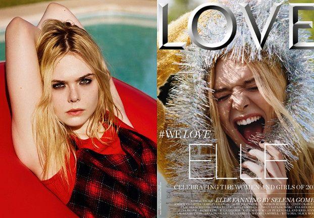 """""""Grunge'owa"""" Elle Fanning w """"LOVE magazine"""""""