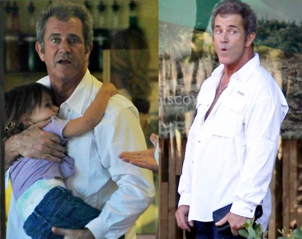 Mel Gibson z córką na rękach... (ZDJĘCIA)