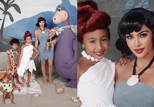 """Halloween 2019. Kim Kardashian z rodziną pozują w strojach FLINSTONÓW. """"Yabba Dabba Doo!"""" (FOTO)"""