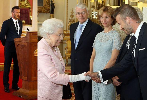David Beckham z wizytą u królowej Elżbiety! (ZDJĘCIA)