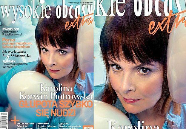 """Korwin-Piotrowska na okładce: """"Photoshop? Nie, dobre światło i maseczka na noc"""""""