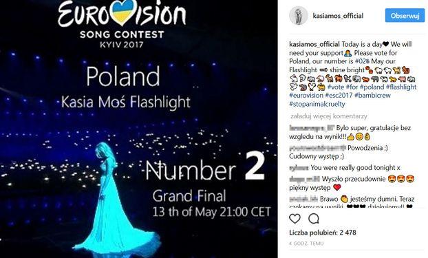 """Moś zaśpiewała już w finale Eurowizji! """"Kasia świetnie"""""""