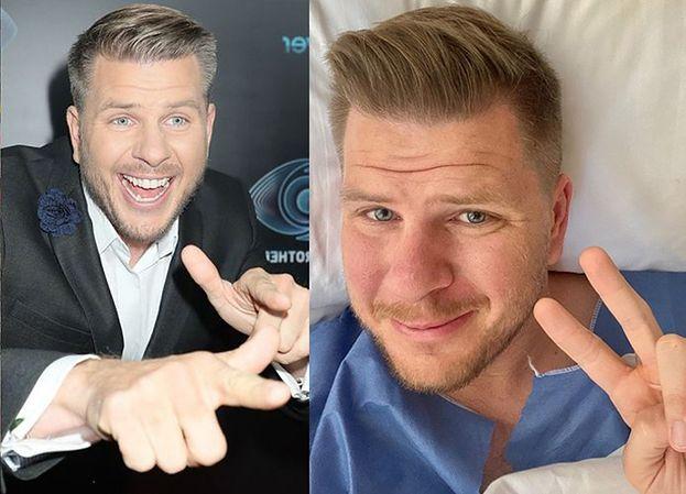 """Filip Chajzer pozuje do selfie na szpitalnym łóżku: """"TRAFIŁEM DO RAJU"""""""