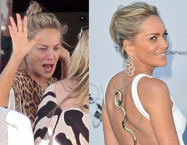 """Sharon Stone """"przed"""" i """"po"""" na Festiwalu w Cannes (FOTO)"""