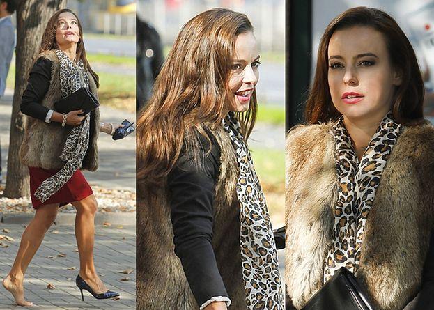 Anna Mucha na planie nowego serialu (ZDJĘCIA)
