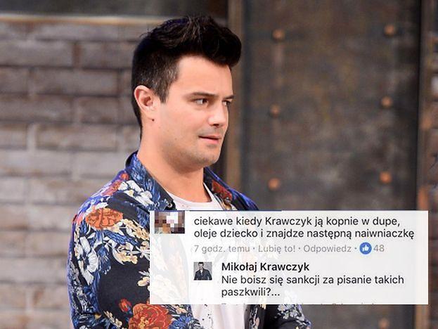 """Mikołaj """"Depilator"""" Krawczyk straszy fanów sądem: """"Nie boisz się sankcji za pisanie takich paszkwili?"""""""
