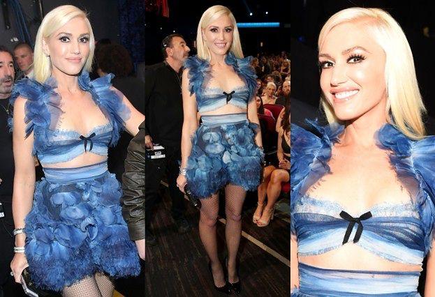 Gwen Stefani w staniku z falbanami