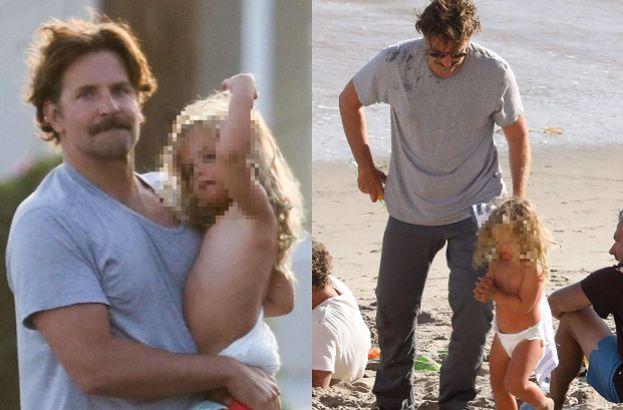 Troskliwy Bradley Cooper wzorowo zajmuje się córeczką po rozstaniu z Iriną Shayk