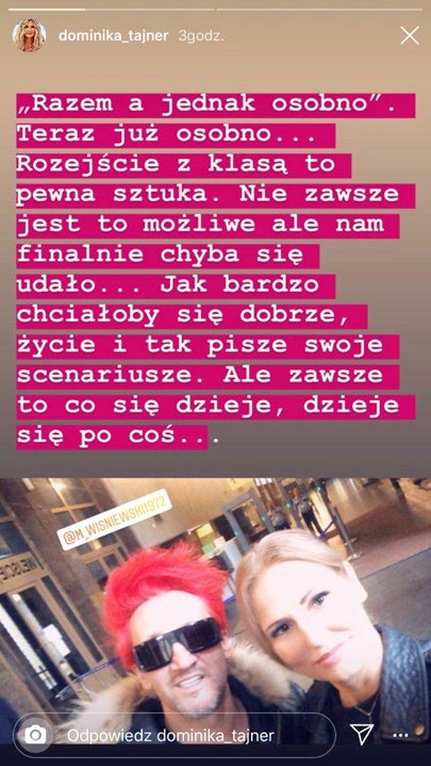 """Michał Wiśniewski i Dominika Tajner JUŻ SIĘ ROZWIEDLI. """"Rozejście z klasą to pewna sztuka"""""""