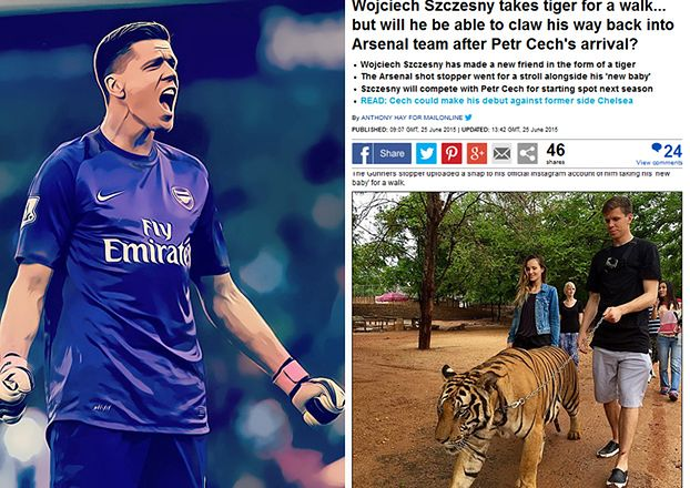 Brytyjskie media piszą o tygrysie Szczęsnego...