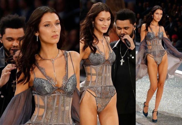 The Weeknd i Bella Hadid flirtują podczas pokazu Victoria's Secret... (ZDJĘCIA)