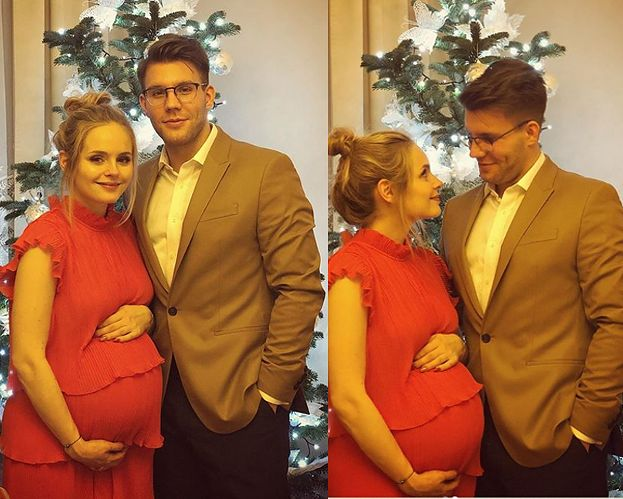 """Kalicka w zaawansowanej ciąży pozuje z partnerem. """"Nie bójmy się mówić """"kocham"""""""""""